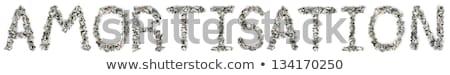 100 · számlák · szó · ki · izolált · fehér - stock fotó © eldadcarin