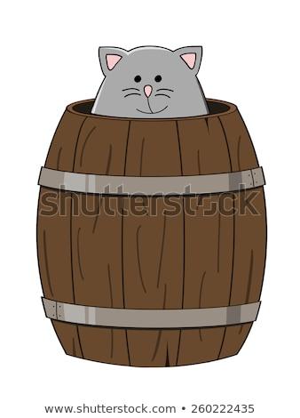 кошки · баррель · пива · нефть · портрет - Сток-фото © pterwort