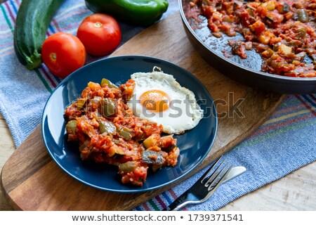 vegetable and eggs Stock photo © jonnysek