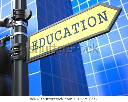 Education Concept. Waymark on Blue Background. Stock photo © tashatuvango