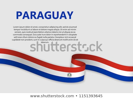 Abstract background with the Paraguay Flag Stock photo © maxmitzu