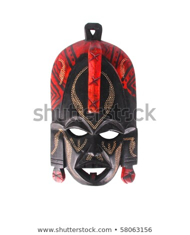 Tribal African mask used in traditional ceremonies isolated Stock photo © michaklootwijk