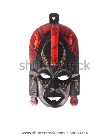 afrikaanse · masker · houten · exemplaar · ruimte · man · hout - stockfoto © michaklootwijk