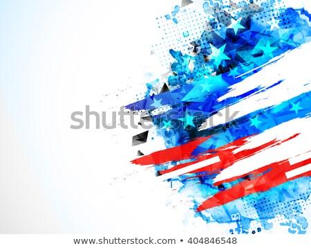 Photo stock: Résumé · drapeau · américain · texture · pavillon · imprimer