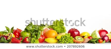 Em linha reta fruto atraente sorridente mulher jovem potável Foto stock © jayfish