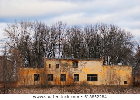 Abandonado edificios histórico fuerte ciudad muerta Foto stock © wolterk