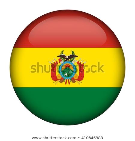 Stock fotó: Gomb · Bolívia · térkép · tájkép · zászló · sziluett
