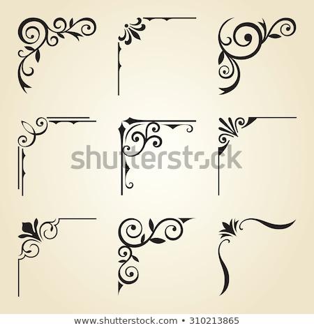 Sarkok keretek oldal dekoráció virág terv Stock fotó © mannaggia
