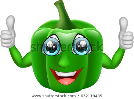 Lined green bell pepper Stock photo © Gloszilla
