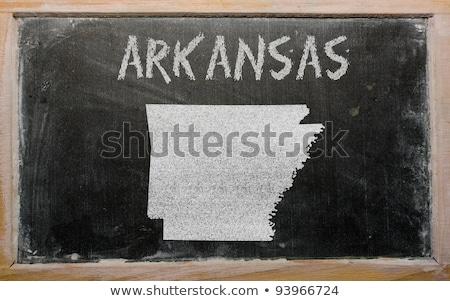 Mapa Arkansas pizarra dibujo pizarra Foto stock © vepar5
