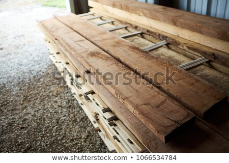 Stack of Rough Cut Wood Lumber Stock photo © pixelsnap