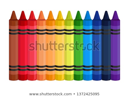 vector colorful wax crayons  stock photo © odes