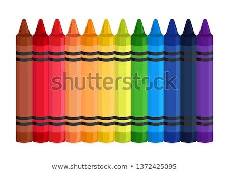 színes · ceruza · zsírkréták · illustrator · rajz · absztrakt - stock fotó © odes