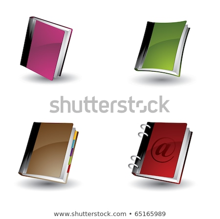 Blauw · dekken · notebook · witte · business · papier - stockfoto © cidepix