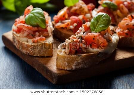 Crostini vegetariana Stock photo © hanusst