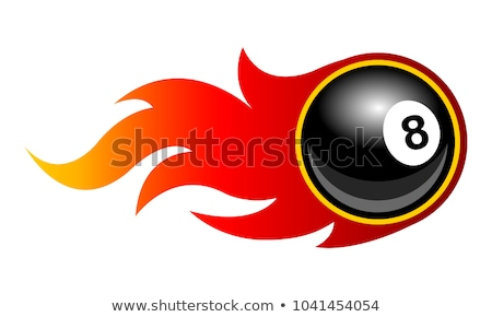flaming 8 ball stock photo © Krisdog