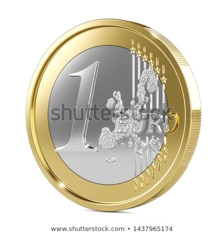 Bir euro madeni para karşı kamera Stok fotoğraf © ocusfocus