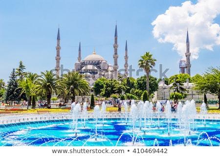 мечети фонтан Стамбуле Турция небе синий Сток-фото © Mikko