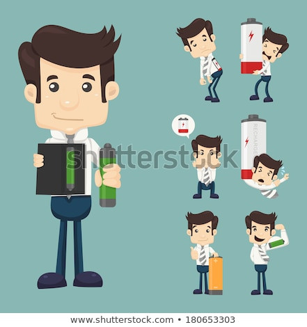 Businessman recharge the energy , eps10 vector format Stock photo © ratch0013