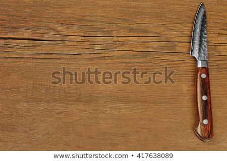 Kort mes zelfverdediging witte staal mes Stockfoto © FOKA