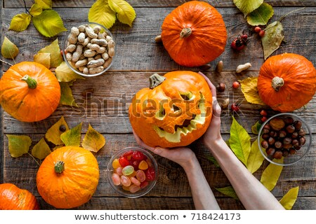 Halloween pumpkin in evening Stock photo © mycola