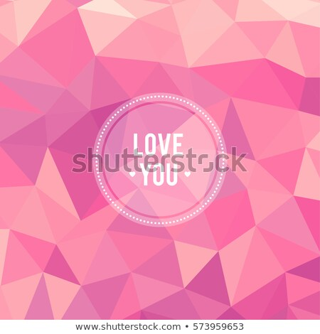 Beautiful happy women's day colorful holiday polygon texture bac Stock photo © bharat
