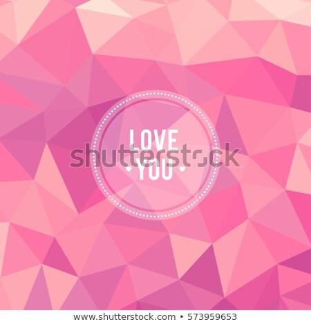 Belo feliz colorido férias polígono Foto stock © bharat