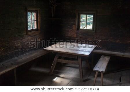 Oude keuken boerderij Oostenrijk verlagen geschiedenis Stockfoto © tepic