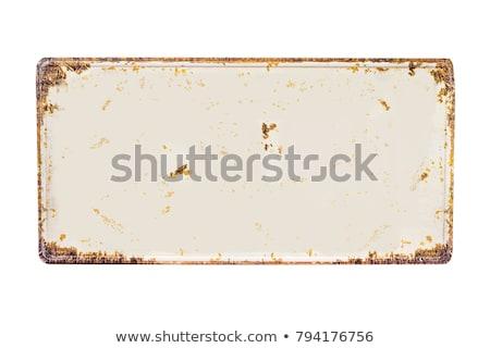 oval · beyaz · plaka · temizlemek · modern - stok fotoğraf © taigi