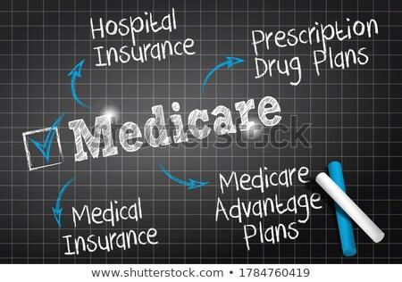 chalkboard medicare illustration Stock photo © nasirkhan