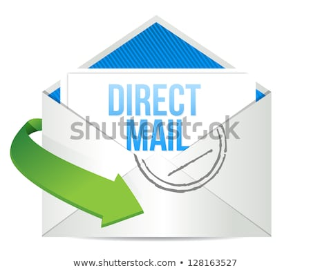 Direct mail postal envelope on white background Stock photo © stevanovicigor