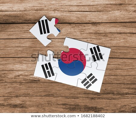 South Korean Flag in puzzle Stock photo © Istanbul2009