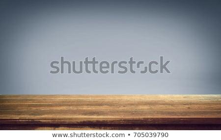 Fából készült pad tiszta fehér háttér bútor Stock fotó © c-foto