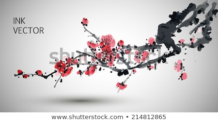 pink plum blossoms stock photo © manfredxy