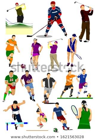 Az spor oyunları futbol tenis Stok fotoğraf © leonido