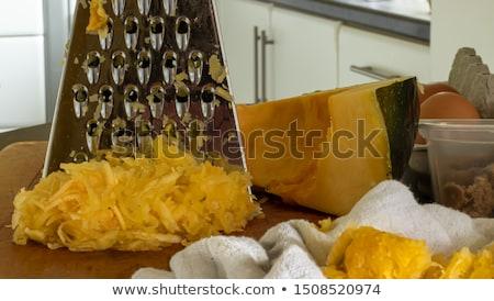 Grated marrow with eggs Stock photo © yelenayemchuk