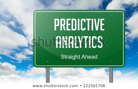 Photo stock: Predictive Analytics On Highway Signpost