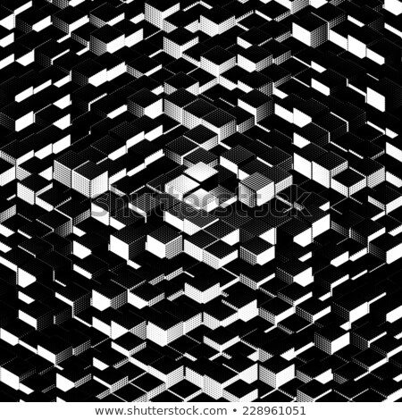 halftone representation of a large stack of cubes Stock photo © Melvin07