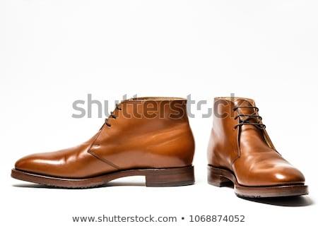 Mężczyzna moda działalności buty biały tle Zdjęcia stock © FrameAngel
