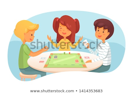 Playing cards with dices Stock photo © m_pavlov