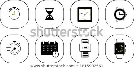 Clock timer varietà isolato bianco Foto d'archivio © cteconsulting