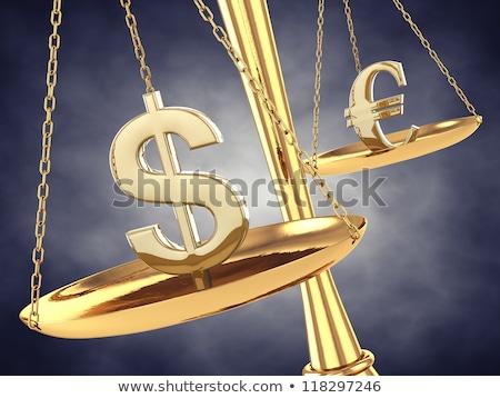 dollar and euro money 3d symbols stock photo © boroda