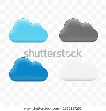 Stock fotó: Vektor · átláthatóság · gradiens · felhők · szett · kék