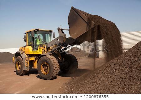 Bulldozer on sand Stock photo © sarymsakov