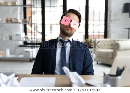 Kimerültség alkalmazott fotó hangsúlyos nő mutatóujj Stock fotó © pressmaster