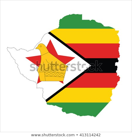 zimbabwe flag map Stock photo © tony4urban