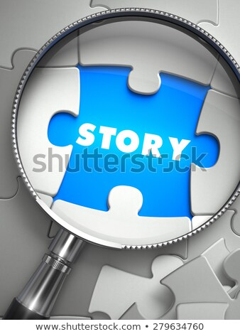 Story through Lens on Missing Puzzle.  Stock photo © tashatuvango