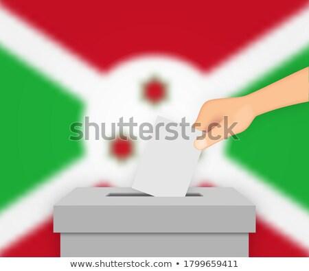 Burundi · bandeira · mapa · país · forma - foto stock © ustofre9