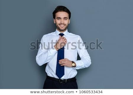 férfi · öntet · öltöny · stílus · elegáns · brutális - stock fotó © hsfelix