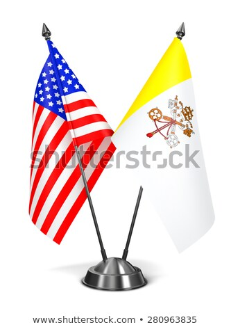 USA and Vatican City - Miniature Flags. Stock photo © tashatuvango